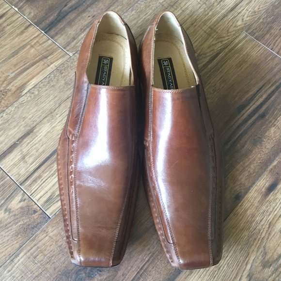 c3cdf88eb5d Stacy Adams Brown Templin Bike Toe Loafer. M 5b42507a9539f71e6eb082e1